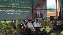 Kunjungi Ponpes Al-Ittihad Cianjur, Jokowi Didoakan Panjang Jabatan