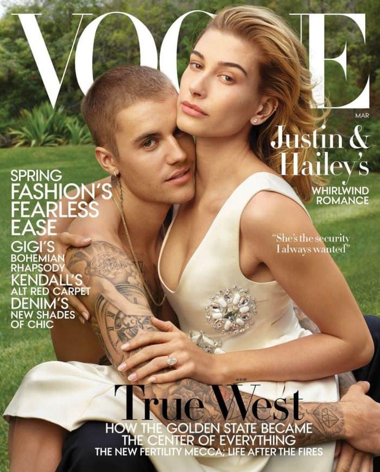 Justin Bieber membuat pernyataan yang mengejutkan saat diwawancarai majalah Vogue.Dok. Instagram/ voguemagazine-Annie Leibovitz