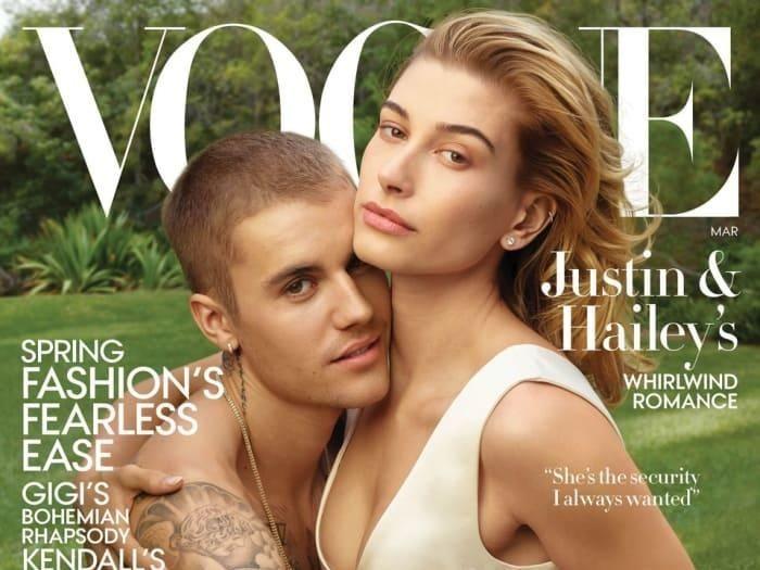 Justin Bieber dan Hailey Baldwin. Foto: Vogue/Annie Leibovitz