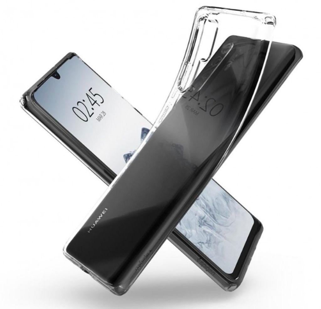 Adalah produsen casing Spigen yang membocorkan desain Huawei P30 Pro dalam gambar render casing mereka untuk kedua flagship tersebut. Ini adalah Huawei P30 Pro. Foto: GSM Arena