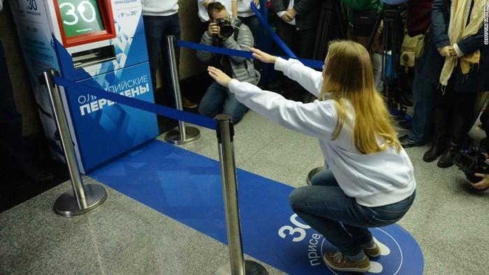 Tujuannya untuk mendorong orang-orang agar berolahraga sekaligus mempromosikan acara Olimpiade Musim Dingin. (Foto: Jarrett Bellini/CNN)