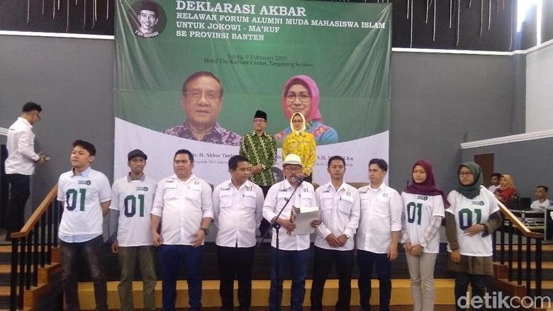 Alumni Muda Mahasiswa Islam Banten Deklarasi Dukung Jokowi-Maruf Amin