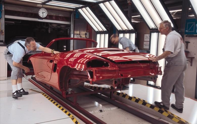 Ilustrasi memoles mobil. Foto: Porsche AG/Getty Images