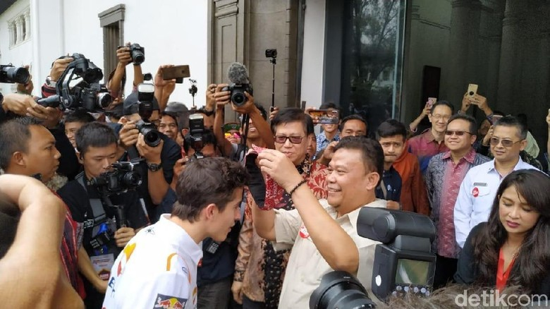 Marc Marquez sapa Bandung Foto: Mukhlis/DetikCom