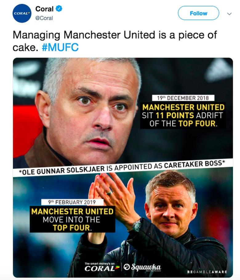 Saat dilatih Mourinho, MU selisih 11 poin dengan peringkat keempat. Sekarang, MU sudah berada di posisi keempat. Foto: istimewa