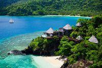 Deretan villa di pinggir pantai (Laucala Island/Facebook)
