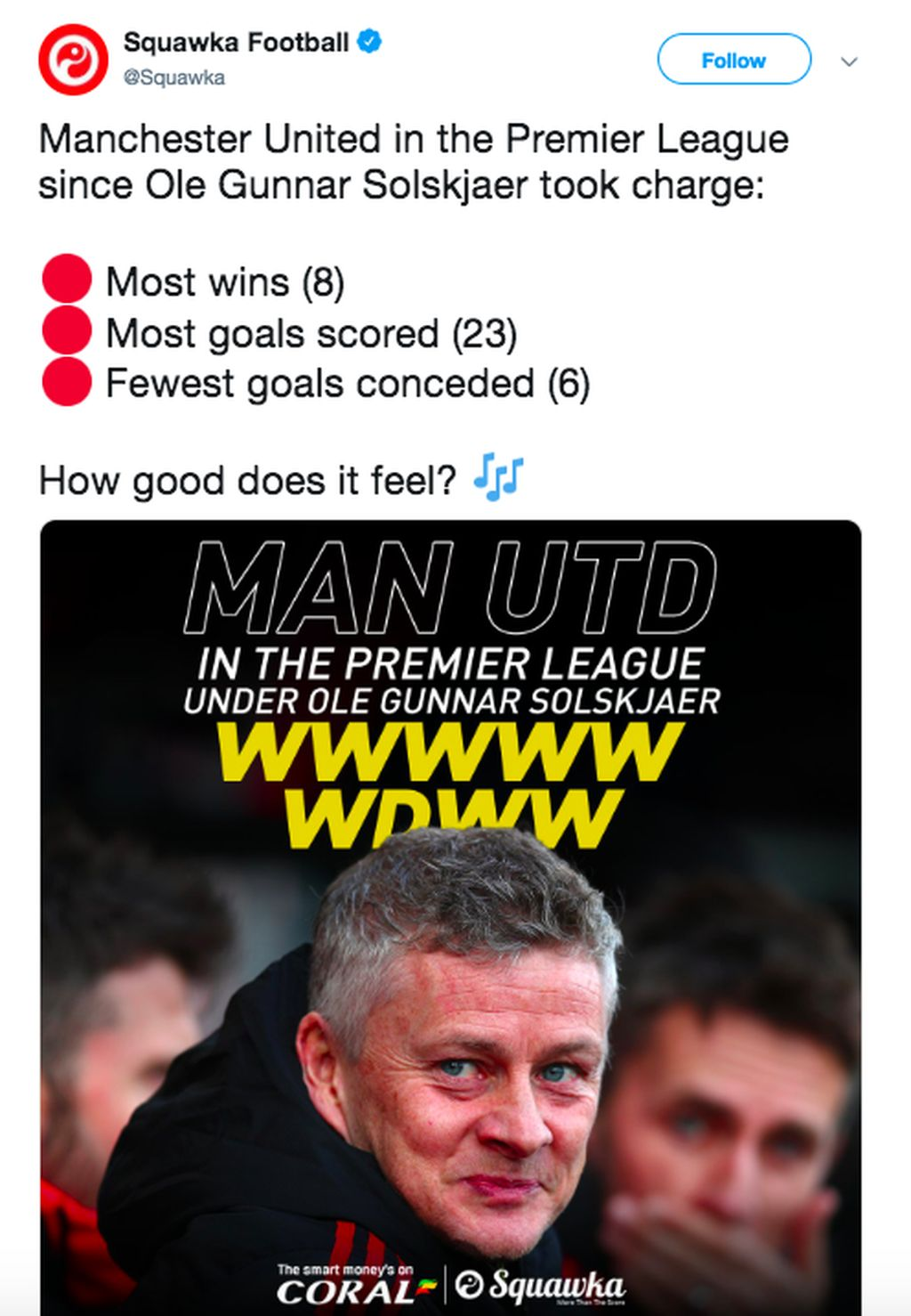 Manchester United menjadi tim dengan performa terbaik di Liga Inggris sejak dilatih Ole Gunnar Solskjaer. Foto: istimewa