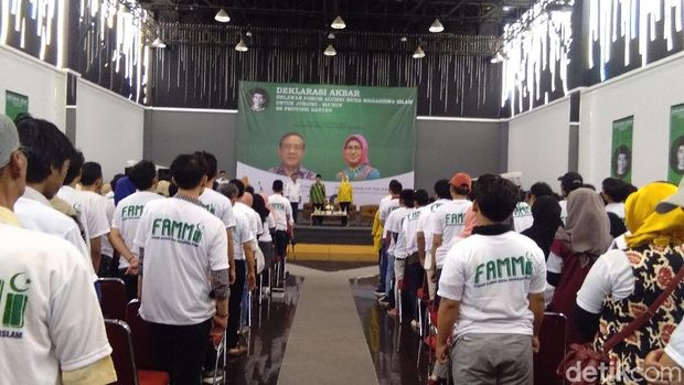 Alumni Muda Mahasiswa Islam Banten Deklarasi Dukung Jokowi-Ma'ruf Amin