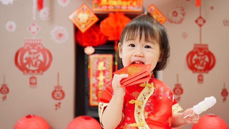 Ilustrasi anak rayakan Imlek/ Foto: iStock
