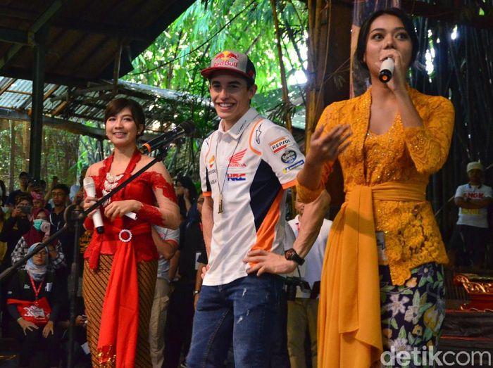 Pebalap Honda, Marc Marquez, yang diisukan ke KTM. (Foto: Satria Nandha/Detikcom)