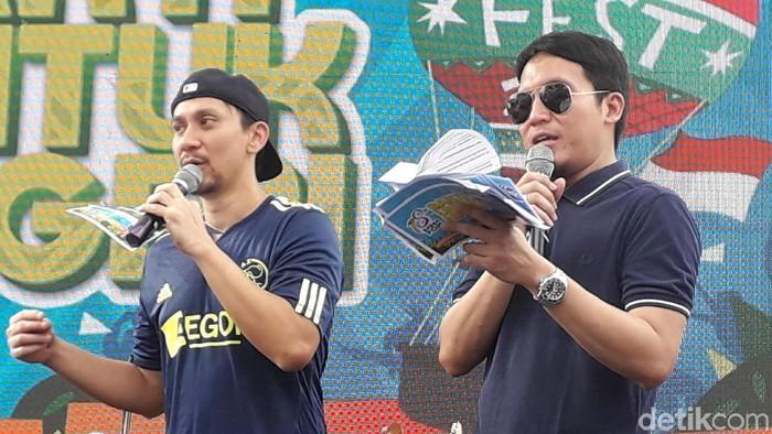 Vincent Rompies (kiri) di acara Ulang Tahun BPOM ke-18 (Foto: Rosmha/detikHealth)