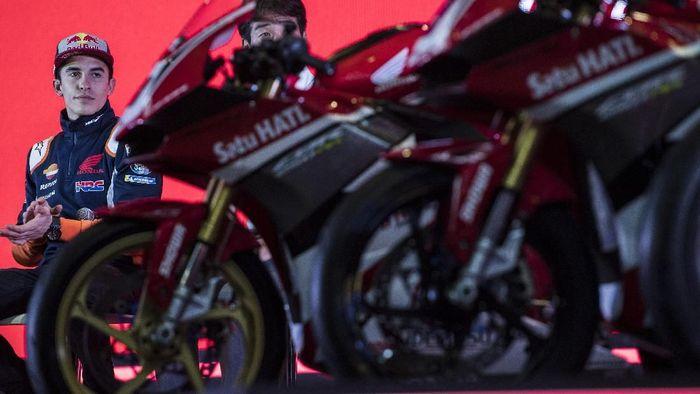 Marc Marquez dan Repsol Honda belum maksimal di tes MotoGP Sepang 2019 (ANTARA FOTO/INASGOC/M Agung Rajasa)