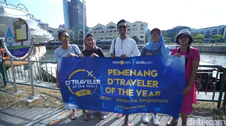 Para runner up dTraveler of The Year 2019 di Singapura (Mardi Rahmat/detikTravel)