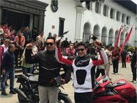 Keseruan Marquez di Bandung: Naik Bandros dan Ketemu Ridwan Kamil