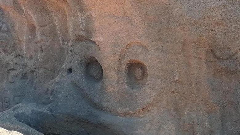Dinding tebing yang dipahat di Spanyol (dok. Juan Coello Foundation)
