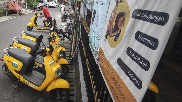 Sepeda listrik Migo ditawarkan dengan sistem sewa.