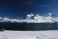 Half Moon Island yang semuanya tampak putih (iStock)