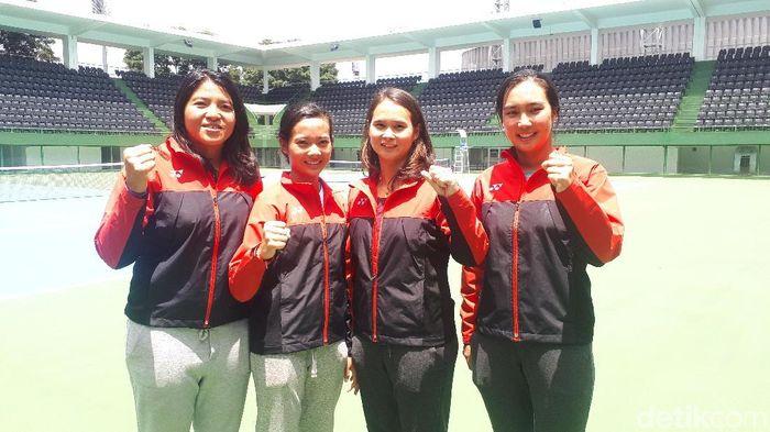 Tim Fed putri berharap PP Pelti mendatangkan banyak turnamen internasional ke Indonesia. (Mercy Raya/detikSport)