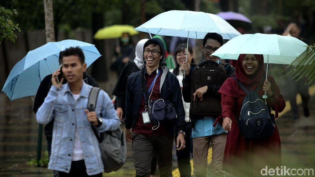 BMKG: Jaksel dan Jaktim Hujan Ringan Siang-Sore Nanti