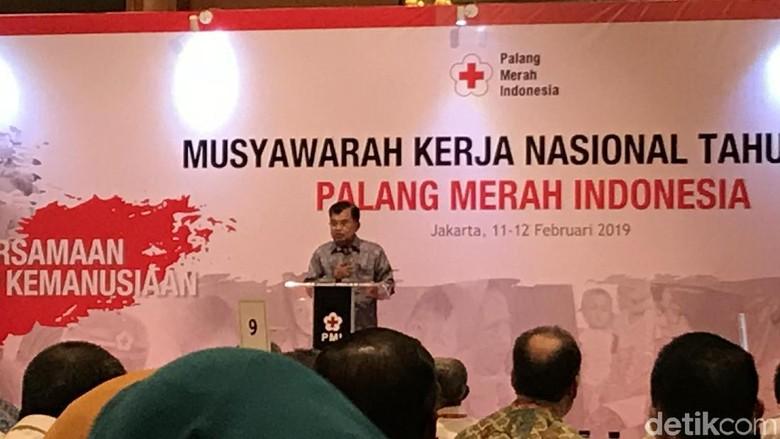 Mukernas PMI 2019, JK Bicara Pentingnya Penanganan Bencana Sampai Tuntas
