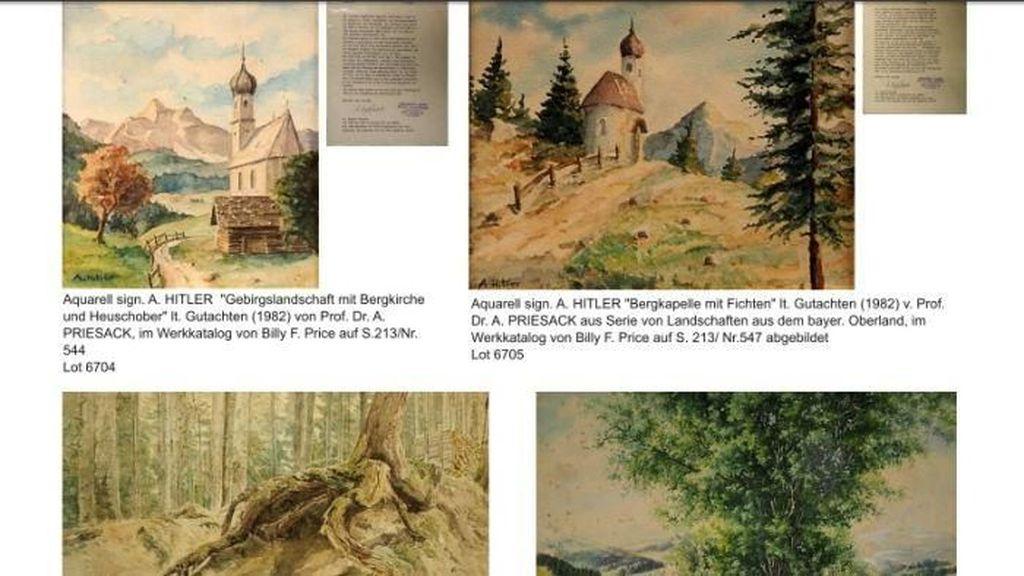 Lelang Lukisan Cat Air Adolf Hitler Tidak Laku karena Diduga Palsu