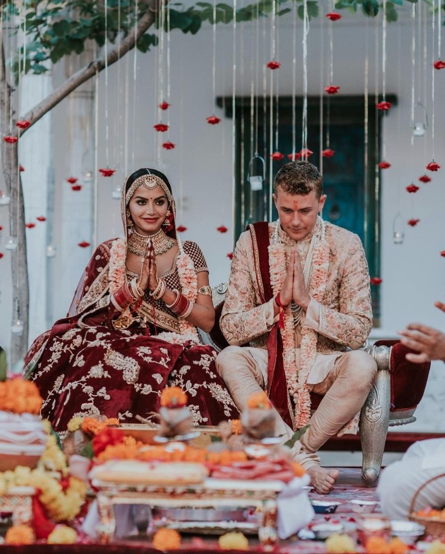 Foto: Pernikahan Mewah Selebgram India, Ganti Baju Pengantin 11