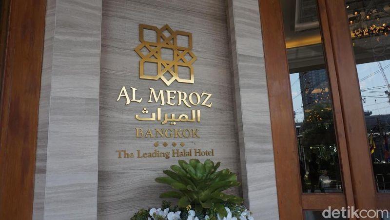Inilah Al Meroz Hotel, sebuah hotel di ibukota Thailand, Bangkok. Tepatnya berada di daerah Krung Thep Maha Nakhon. Hotel tersebut memiliki restoran bernama Diwan (Shinta/detikTravel)