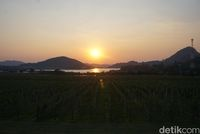 Pemandangan sunset yang cantik (Shinta/detikTravel)