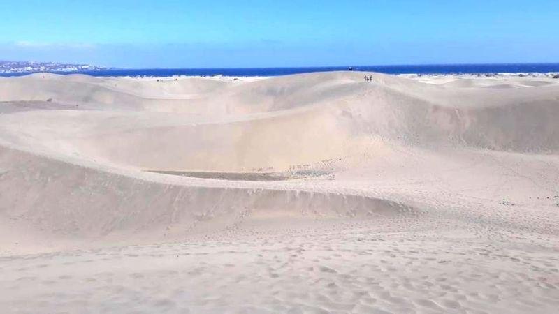 Inilah kawasan cagar alam, Gurun dan Pantai Maspalomas di Kepulauan Canary, Spanyol. Kawasan dilindungi ini tak luput dari aksi vandalisme turis tidak bertanggung jawab. (dok. Juan Coello Foundation)