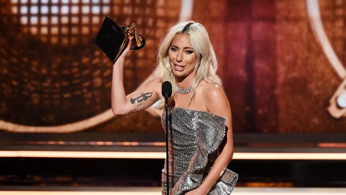 Lady Gaga di Grammy Awards 2019. Foto: Kevin Winter/Getty Images for The Recording Academy