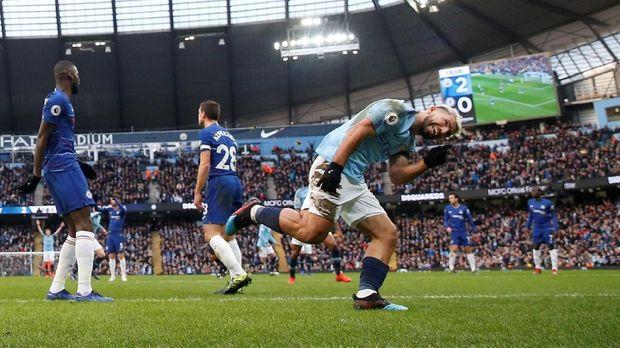 Man City menang 6-0 atas Chelsea tengah bulan Februari 2019.