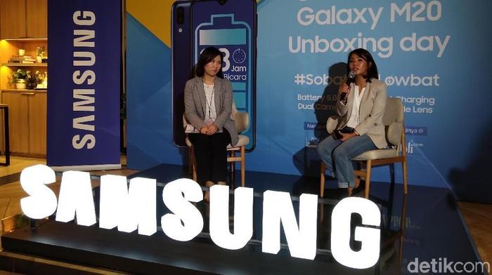 Berapa harga Samsung Galaxy M20 di Indonesia. (Foto: Muhamad Imron Rosyadi/detikINET)