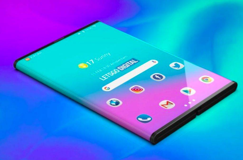 Media asal Belanda, LetsGoDigital, membuat gambar render 3 dimensi ponsel layar lipat Xiaomi berdasarkan prototipe yang belum lama ini dipamerkan salah satu pendiri Xiaomi, Lin Bin. Ini saat ponsel dalam keadaan terlipat kedua sisinya. Foto: LetsGoDigital