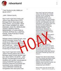 Ridwan Kamil Sangkal 'Niat Busuk Kubu Sebelah Sejak 2014'