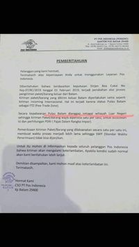 Ramai 'Batam Dianggap Luar Negeri', PT Pos Indonesia Beri Penjelasan
