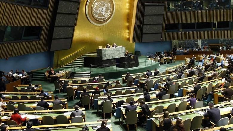 Viral Video Dukung Prabowo, Begini Aturan Penggunaan Ruang Sidang di PBB