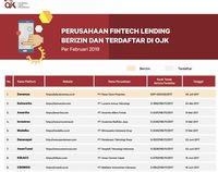 Catat! Ini Fintech Lending Terdaftar dan Berizin dari OJK
