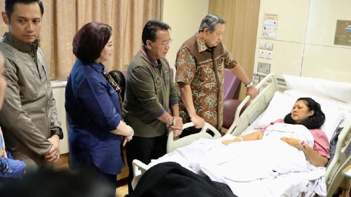Foto: Ani Yudhoyono tengah dirawat di rumah sakit (Dok. Twitter Andi Arief)