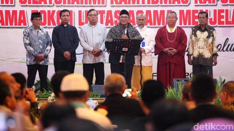 Jelang pemilu 2019, Polda Metro Jaya mengumpulkan sejumlah tokoh lintas agama. Tujuannya untuk mencegah penyebaran hoax.