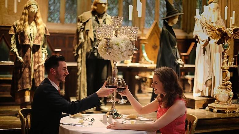 Valentine di Great Hall Hogwarts, Warner Bros Studio Tour London (Warner Bros. Studio Tour London)