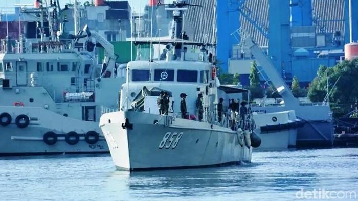 Ilustrasi kapal TNI AL patroli (Agus-detik)