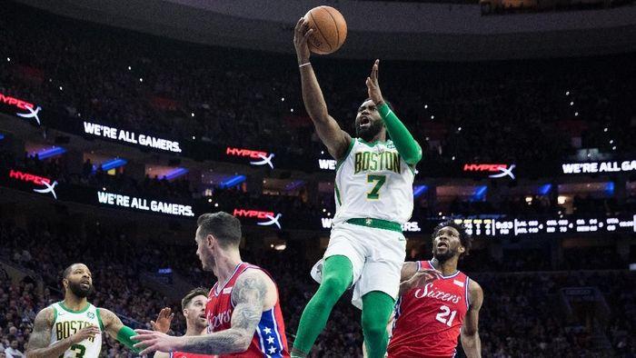 Boston Celtics kalahkan Philadelphia 76ers (Bill Streicher-USA TODAY Sports)
