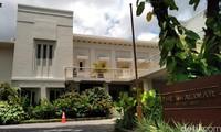 Freemason di Kota Malang dulu pernah ada. Jejaknya bisa dilihat di sebuah hotel bergaya Belanda di Jalan Cerme, Kota Malang (Muhammad Aminudin/detikTravel)