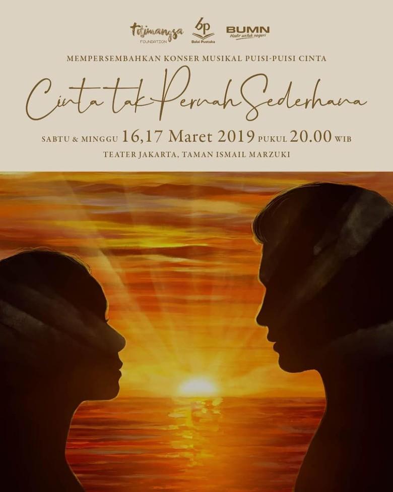 Konser Musikal Puisi-puisi Cinta Diisi Reza Rahadian hingga Marsha Timothy