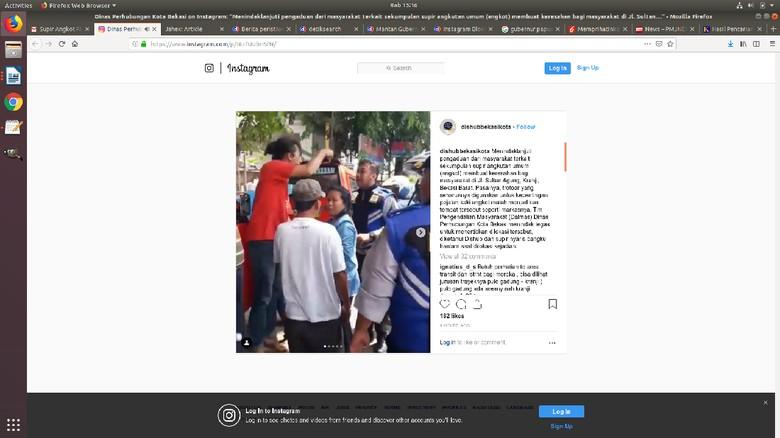 Penertiban Angkot di Bekasi, Sopir dan Petugas Dishub Adu Mulut
