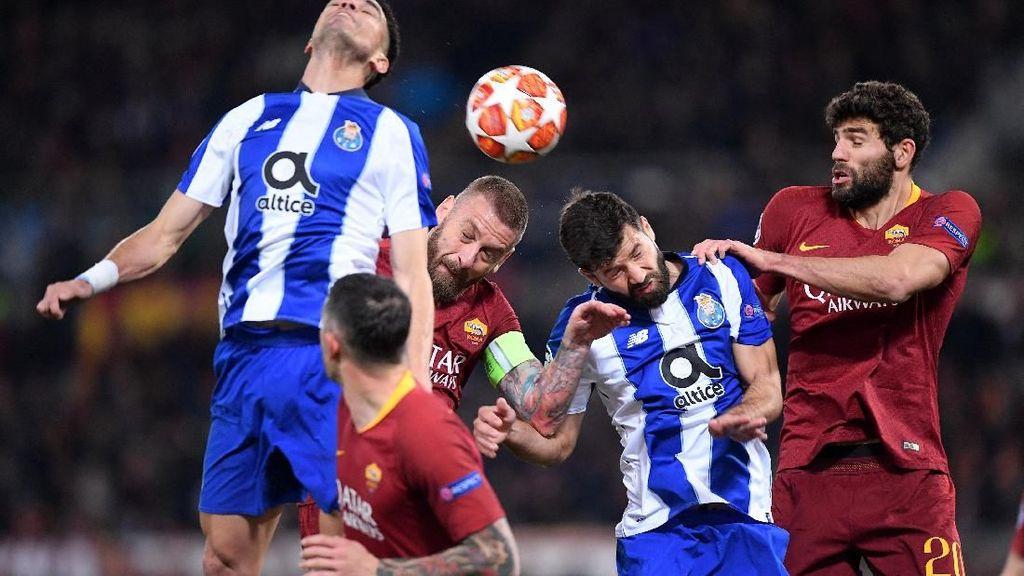 Roma vs Porto Masih Imbang Tanpa Gol di Babak Pertama