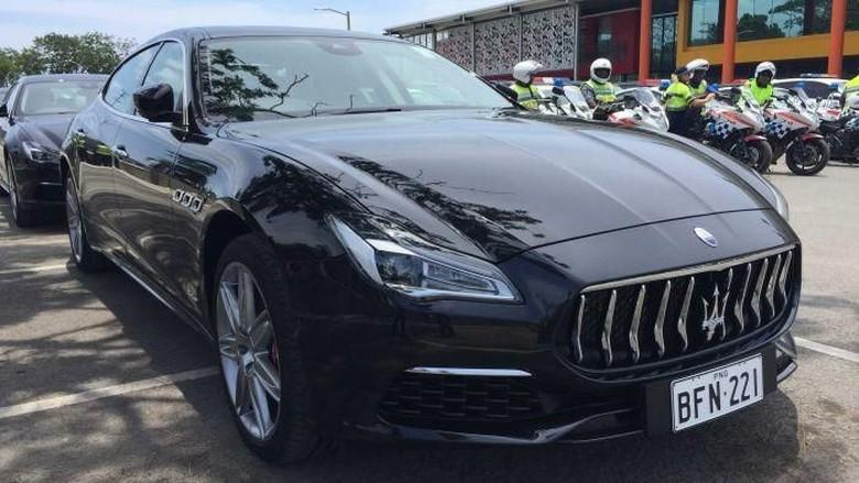 Mobil Maserati yang digunakan di KTT APEC Papua Nugini belum dikembalikan ke negara Foto: ABC Australia