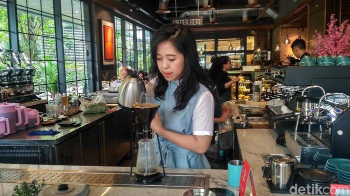 Pendiri First Crack Coffee Evani Jesslyn. Foto: Achmad Dwi Afriyadi/detikFinance
