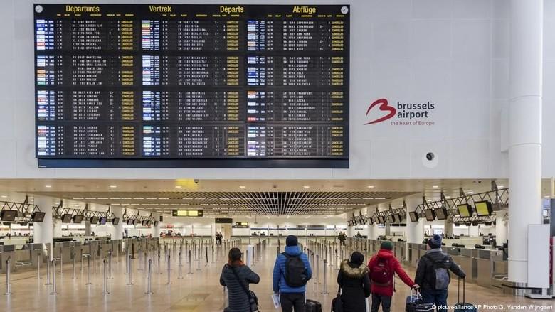 Aksi Mogok Massal Lumpuhkan Belgia, Wilayah Udara Ditutup 24 Jam