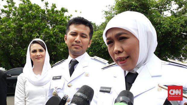 Pasangan Gubernur-Wagub Jatim Khofifah Indar Parawansa dan Emil Elestianto Dardak.
